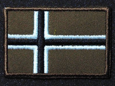 Patch Norway Flag (Norwegian Flag 3D Norway National Flag EMBROIDERED HOOK & LOOP VELCRO PATCH(K) (big))