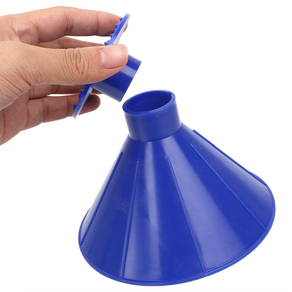Ice Scraper Round Car Windshield Snow Scraper Magic Funnel Snow Removal Tool Cone-Shaped Windshield Ice Scraper blue 3 pack