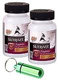 Nutri-Vet K-9 Aspirin 300mg for Medium & Large Dogs, 75ct w/Collar Address Carrier (Twin Pack, Green)
