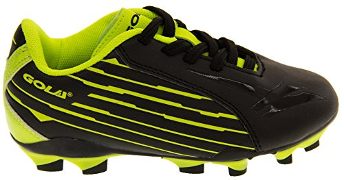 Gola Activo 5 Niños Zapatos de Fútbol de Césped Artificial Negro / Amarillo