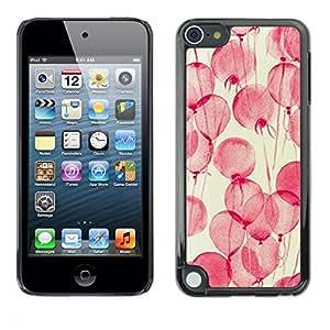 [Neutron-Star] Snap-on Series Teléfono Carcasa Funda Case Caso para Apple iPod Touch 5 [Flores rosadas de la acuarela amarillo]