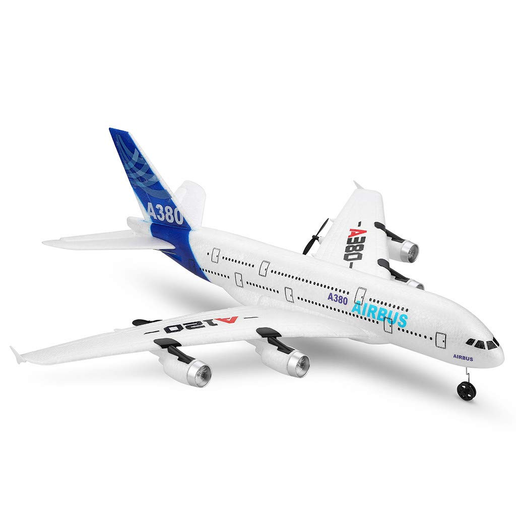 WLTOYS A120-A380 2.4GHz 510mm Wingspan 3CH RC Airplane Fixed Wing RTF,Starwak Remote Control Aeroplane with Dual Back Pusher Powers and Ultra Stable,Easy Control for Kids Beginners Birthday Xmas Gift by Starwak