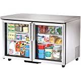 True TUC-48G-ADA Under Counter Refrigerator 48 2 Section 2 Glass Door