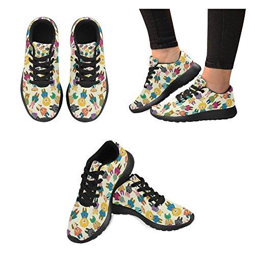 Chaussures De Course De Route De Womensprintprint Jogging Sports Légers Marchant De Sport Baskets De Sport