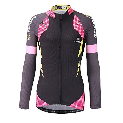 DuShow Women Bike Bicycle Cycling Long Seelve Jersey Top Shirt