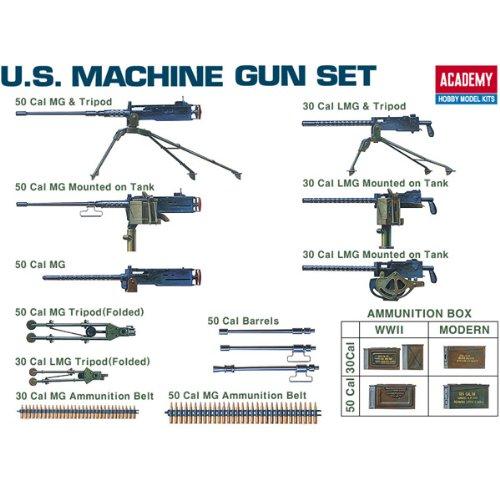 50 Cal Machine Gun - Academy U.S. Machine Gun Set