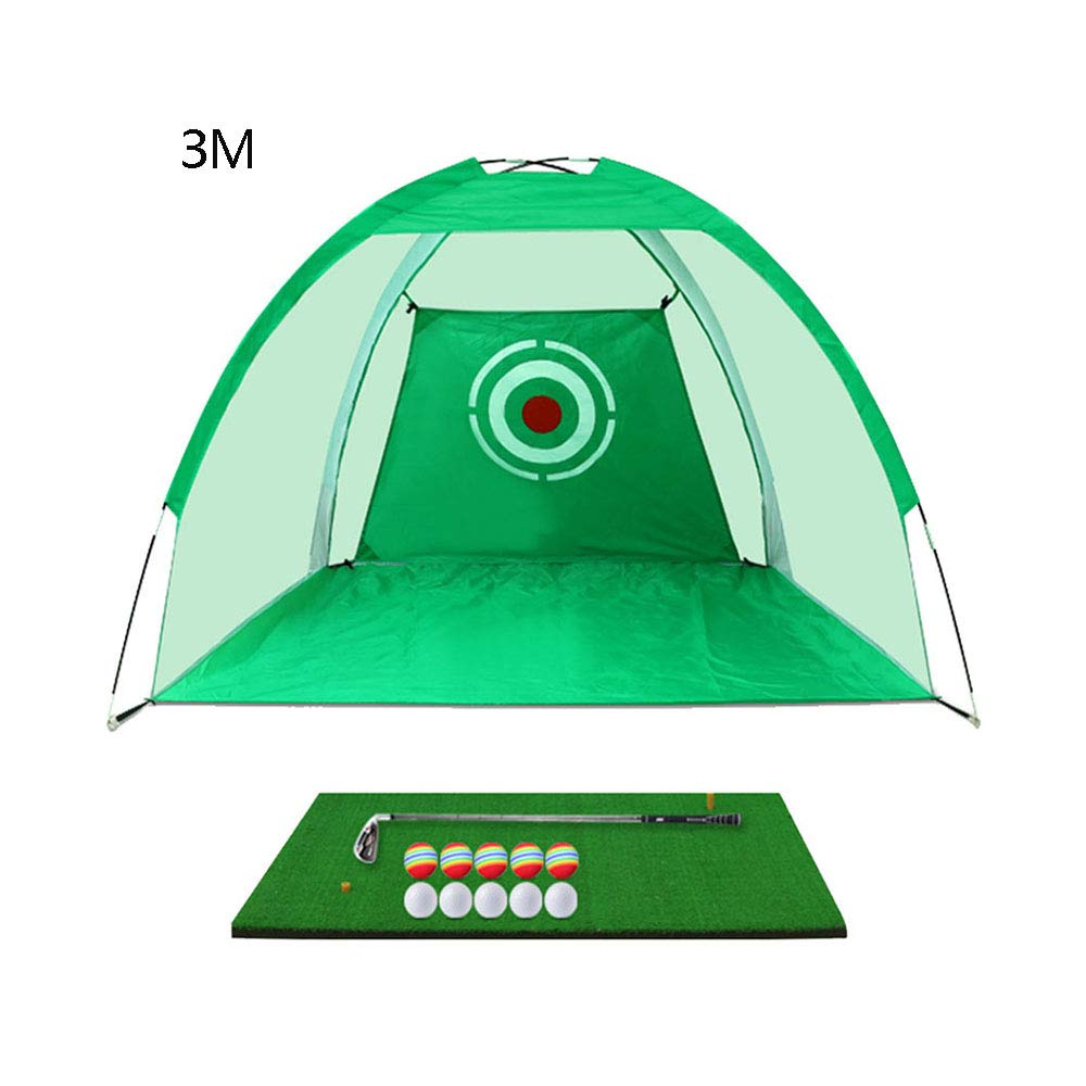 ゴルフパター練習ネット/屋内パーソナルトレーニングマットスイングパッドセット(3m×2m)   B07L1L8M7Q
