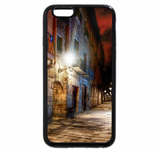 iPhone 6S / iPhone 6 Case (Black) alleyway in barcelona late at night hdr
