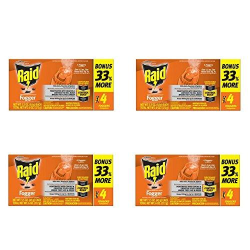 Raid Concentrated Pest Control Deep Reach Fogger 1.5 Ounces 4 count (4 pack) ()