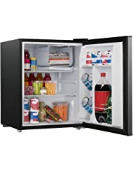 2.7 cubic foot stainless look compact dorm refrigerator