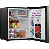 2.6 cubic foot stainless look compact dorm refrigerator