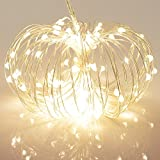 100 LED Outdoor Battery Fairy Lights w/ Remote & Timer - (8 Modes, Dimmable, ...