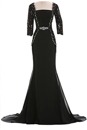 28a3940f132 Gorgeous Bridal Chiffon A-line Long Modest Mother of the Bride Dress Lace  Sleeves-