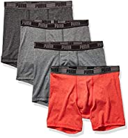 PUMA Mens Men's 4 Pack Tech Boxer Brief Boxer Br