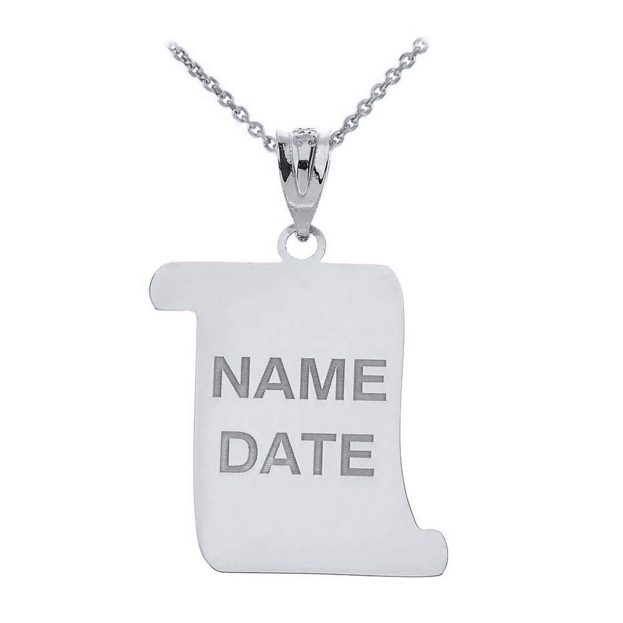 Sterling Silver Class of 2019 Personalized Cap /& Ribbon Charm Graduation Pendant Necklace