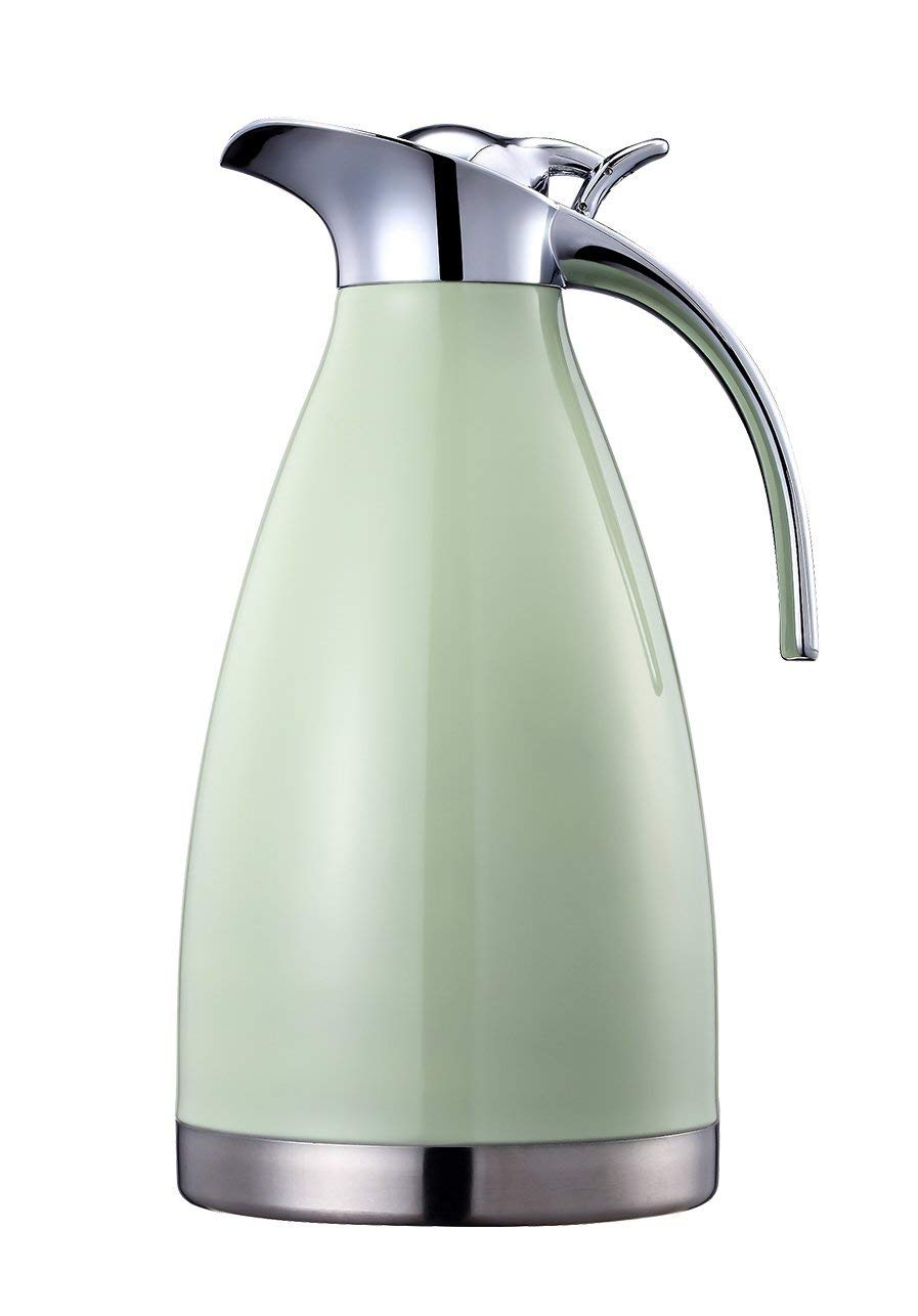 Double Walled Vacuum Insualted Thermos//Carafe with Lid Coffee//Tea Carafe Heat /& Cold Retention 2 Liter Bonnoces 68 Oz Stainless Steel Thermal Carafe