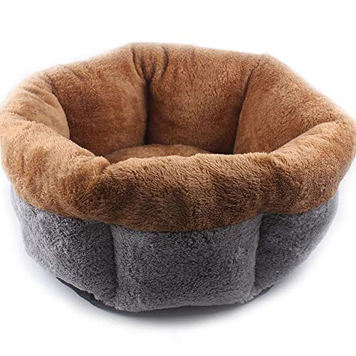 (octagonal shape dots dimple pet cotton nesting cave super warm plush dog cat bed soft basket nest mat comfortable pad round mattress dotted kennel winter pets puppy kitten house small closed litter )