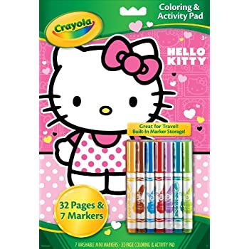 Amazon.com  Crayola Hello Kitty Coloring and Activity Pad with ... e833544bdc73d