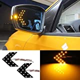 iJDMTOY Universal Fit Ultra Slim 14-SMD Side Mirror LED Turn Signal Arrows, Amber Yellow