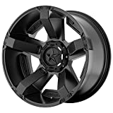 xd wheels 18 - XD Series by KMC Wheels XD811 Rockstar II Satin Black Wheel With Accents (18x9