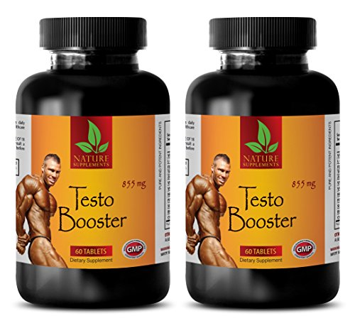 Herbal supplements for men sexual health - TESTO BOOSTER 855mg - Testosterone booster for men over 40 - 2 Bottles 120 Capsules
