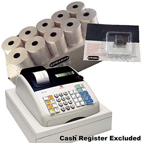 eposbits® marca 20rollos + 1x de tinta para máquina de escribir Olivetti ecr7100ECR 7100Caja registradora