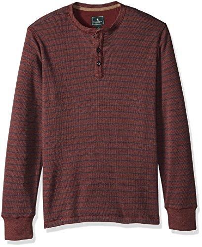 G.H. Bass & Co. Mens Textured Striped Long Sleeve Crew Neck Shirt