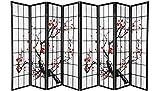 Screen 8 Panel Black Plum Blossom Design Room Divider (8-Panel)