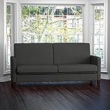 Handy Living Samuel Charcoal Linen Convert-a-Couch Futon Sleeper Sofa