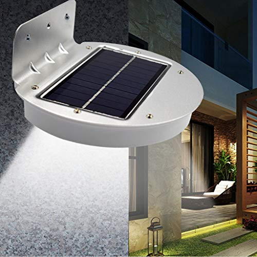 wuliLINL2019 Solar LED Light, Sun Powered Energy Saving Night Utility Security Lamp Portable for Indoor Outdoor House Yard Gutter Fence Garden Garage Shed Walkways Stairs Anywhere Safety Lighting