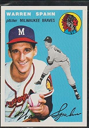 2000 Topps Warren Spahn Braves Baseball Card 270 1958 Reprint At