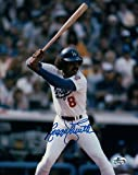 Autographed Reggie Smith Photograph - 8X10 LA Dodgers Home at Bat COA - Autographed MLB Photos