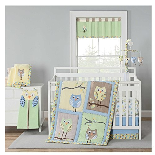 Laugh Giggle & Smile Mod Owls 4 Piece Crib Set ()