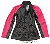 Joe Rocket RS2 Womens 2-Piece Motorcycle Rain Suit (Black/Pink, Medium)