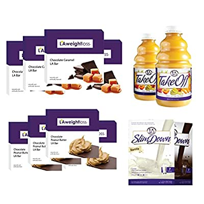 LA Weight Loss Combo - Takeoff Cleanse & LA Bars & SlimDown Meal Replacements - 12 Pack