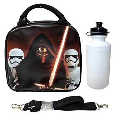 Disney Star Wars Black Kylos & Storm Trooper Lunch Bag with Water Bottle & Adjustable Shoulder Strap