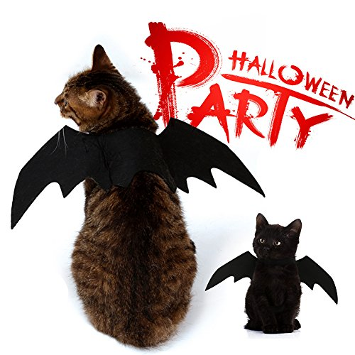 SIMPLESTLIFE Halloween Pet Bat Wings Cat Dog Bat Costume for Halloween Christmas New Year]()