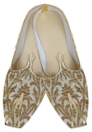 INMONARCH Hombres Boda Zapatos Atractiva de Oro MJ0045
