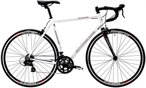 Motobecane 2019 Mirage S Aluminum Frame Carbon Fork 14 Speed Shimano STI 700c Road Bike (White, 58cm) (Best Road Bike Frame 2019)