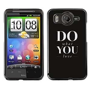 EJOY---Cubierta de la caja de protección la piel dura para el / HTC G10 / --HAZ LO QUE AMAS