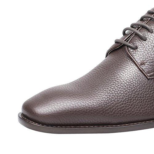2 76 H81K65X092D Encaje Zapatos Zapatos Taller Tan Elevador Pulgadas Oxfords 7CM Vestido Arriba Marrón CHAMARIPA v1PTq4wO