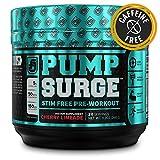 PUMPSURGE Caffeine-Free Pump & Nootropic Pre Workout Supplement, Non...