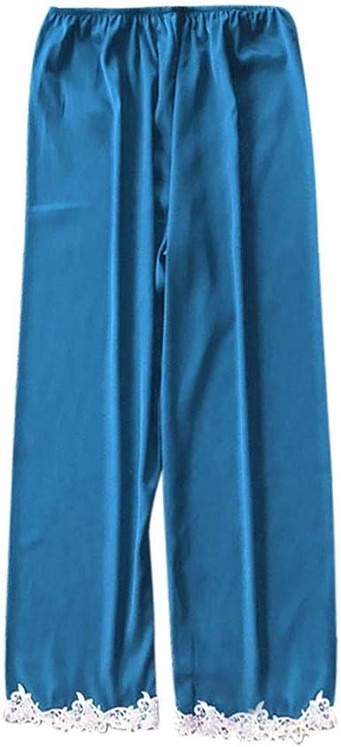 Proumy Pantalones Largos de Dormir Conjunto de Pijamas Verano ...