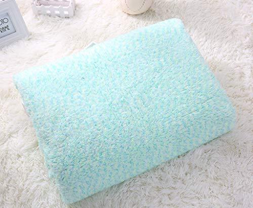 (WSI Blankets, Woollen Blanket Baby Double Thickened Flannel Short Plush Blanket Warm Blanket Autumn and Spring Sofa Travel 130160cm / Sky Blue)