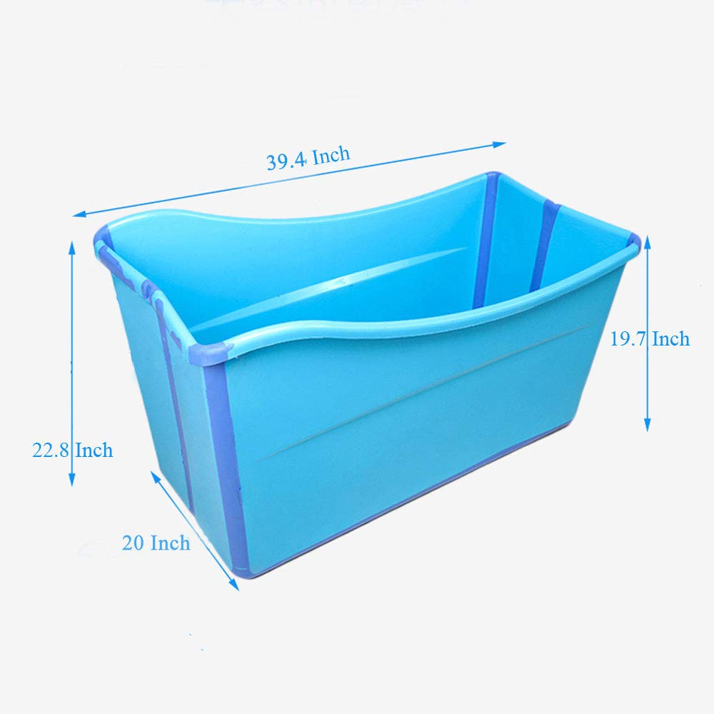 Weylan Tec Large Foldable Bath Tub Bathtub For Adult Children Baby Toddler Blue by Weylan Tec (Image #5)