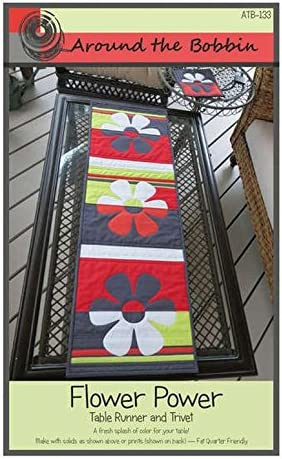 Flower Power Table Runner and Trivet Quilt Pattern