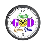 Wall Clock Smile God Loves You