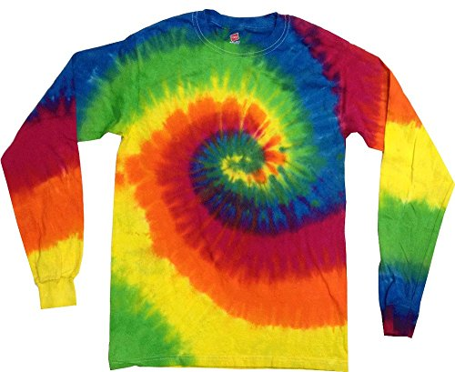 - Gildan Tie Dye T-Shirts Neon Multicolor Moondance Long Sleeve Kids & Adult Size (Small)