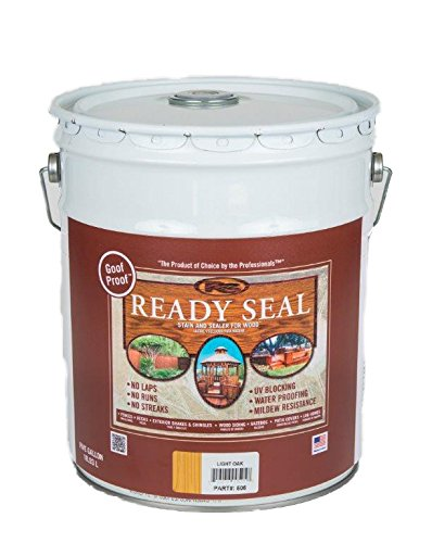 4. Ready Seal 505 5-Gallon Pail Light Oak Exterior Wood Stain and Sealer