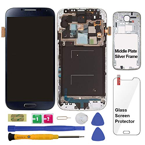 Display Touch Screen (AMOLED) Digitizer Assembly with Frame for Samsung Galaxy S4 (SIV) SCH- I545 / SPH- L720 / SCH- R970 (for Mobile Phone Repair Part Replacement)(Repair Tool Kits) (Black Mist)